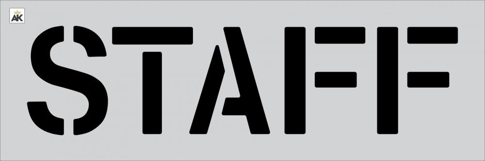 """12"""" STAFF Stencil"""