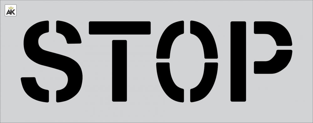 "12"" STOP Stencil"