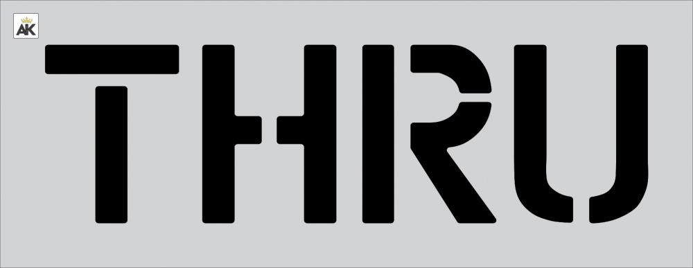 """12"""" THRU Stencil"""