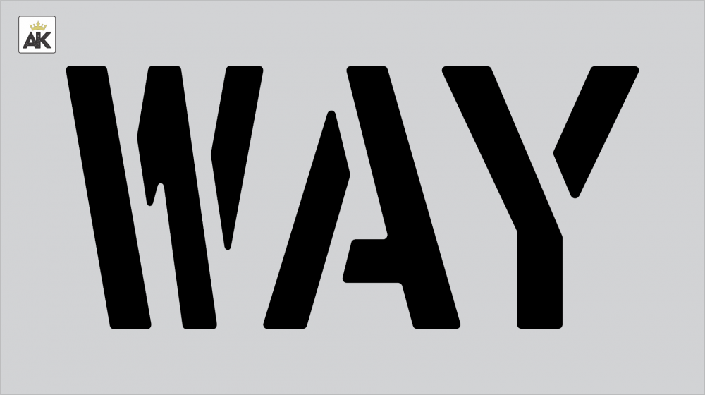 "12"" WAY Stencil"