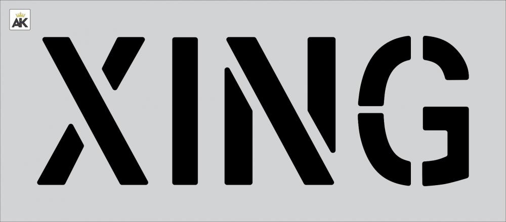 """12"""" XING Stencil"""