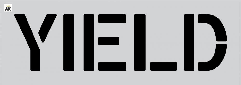 "12"" YIELD Stencil"