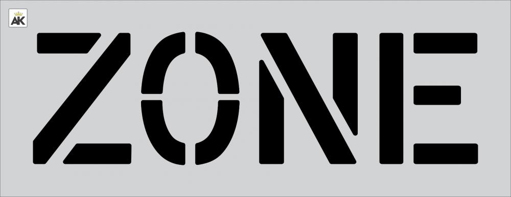 """12"""" ZONE Stencil"""