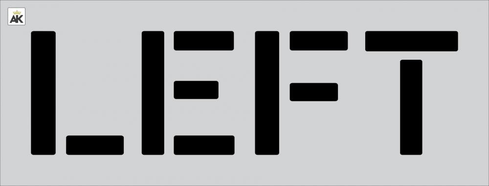 """12"""" LEFT Stencil"""