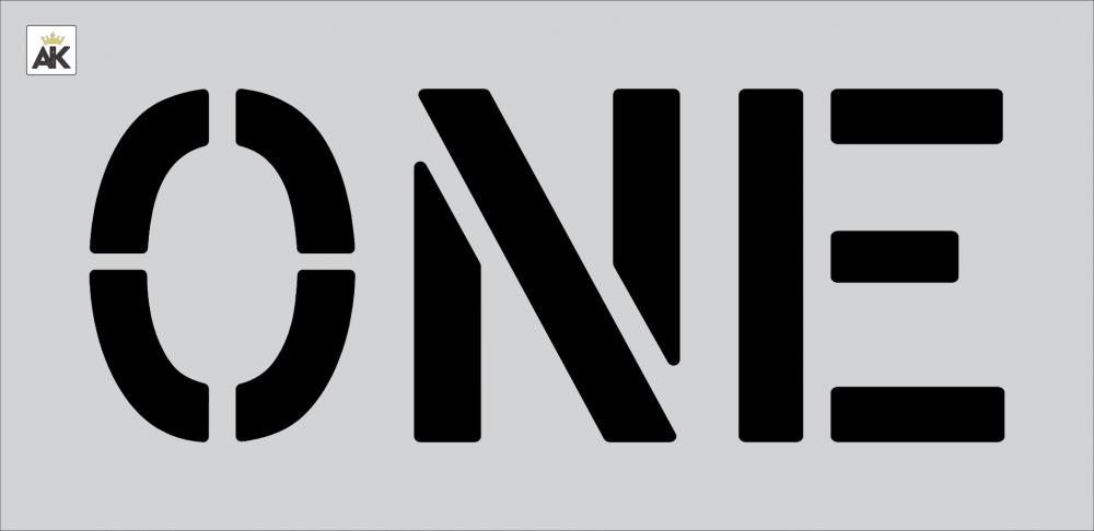 """12"""" ONE Stencil"""