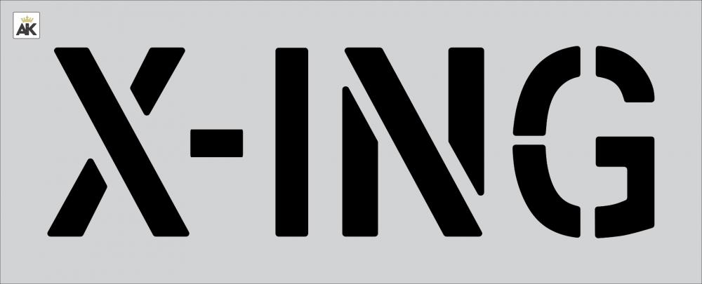 """12"""" X-ING Stencil"""