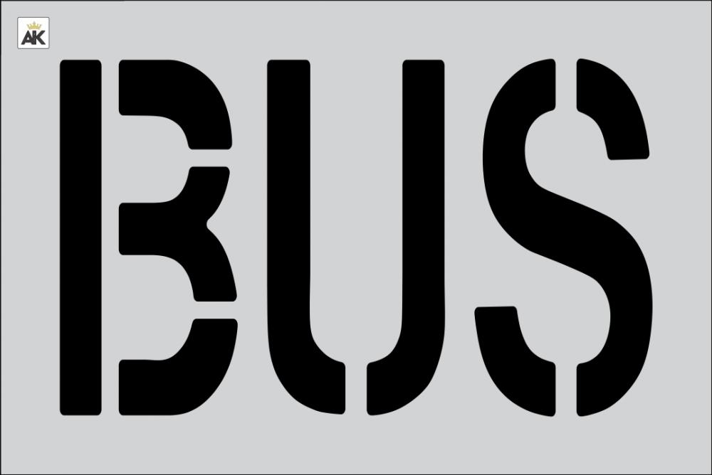 """18"""" BUS Stencil"""