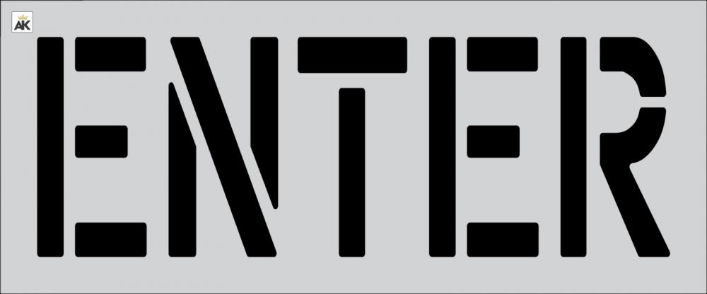 """18"""" ENTER Stencil"""