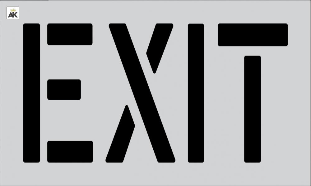 """18"""" EXIT Stencil"""