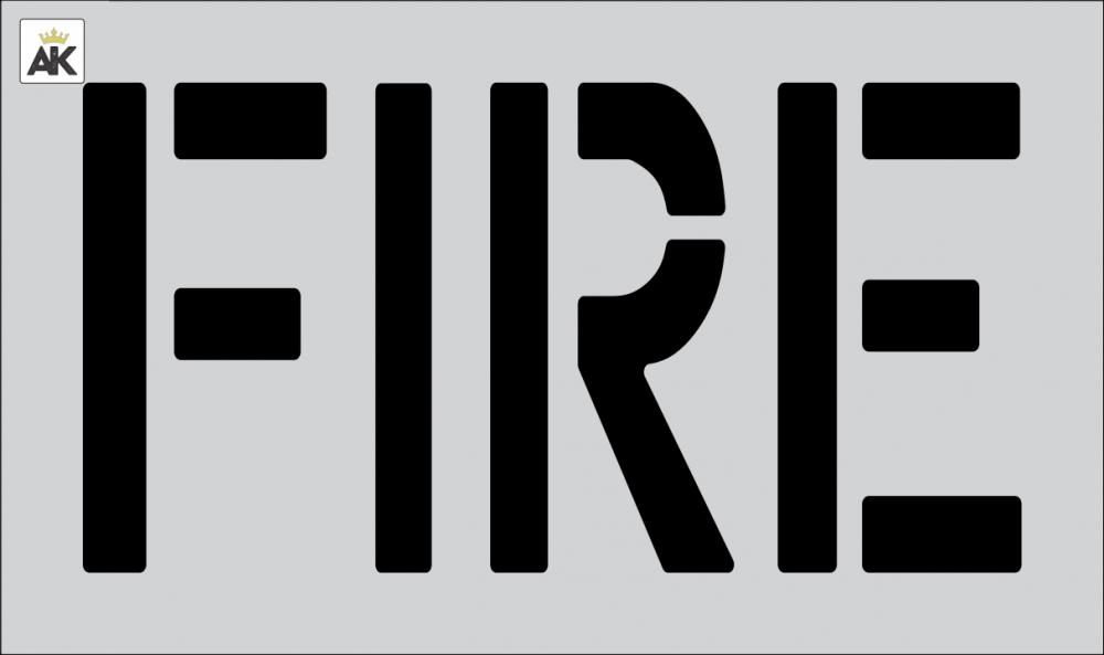 """18"""" FIRE Stencil"""