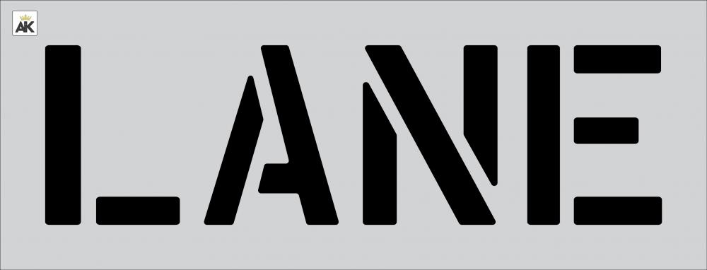 """18"""" LANE Stencil"""