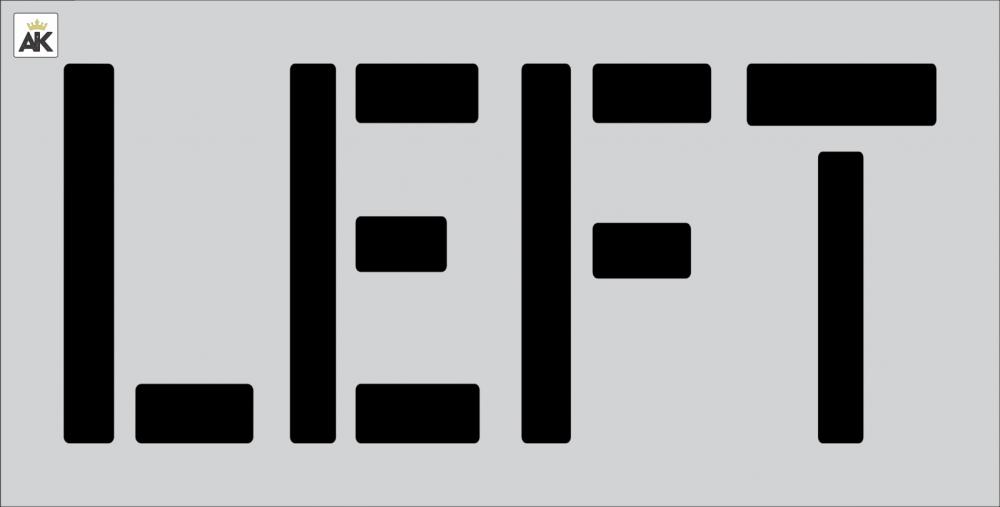 """18"""" LEFT Stencil"""