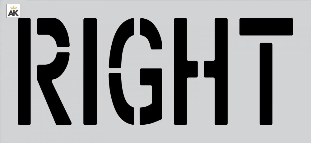 """18"""" RIGHT Stencil"""