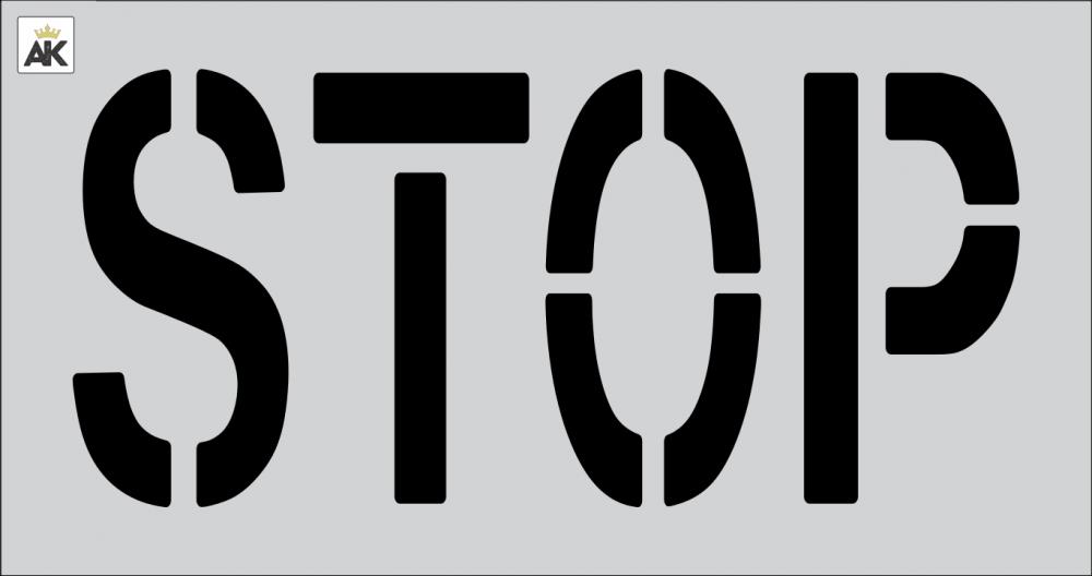 "18"" STOP Stencil"
