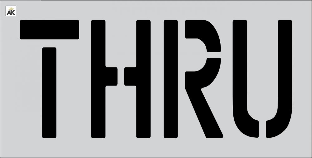 """18"""" THRU Stencil"""