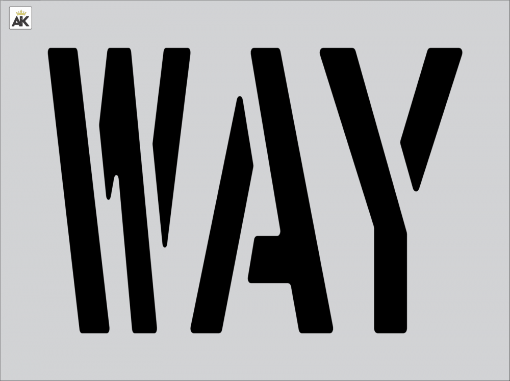 "18"" WAY Stencil"