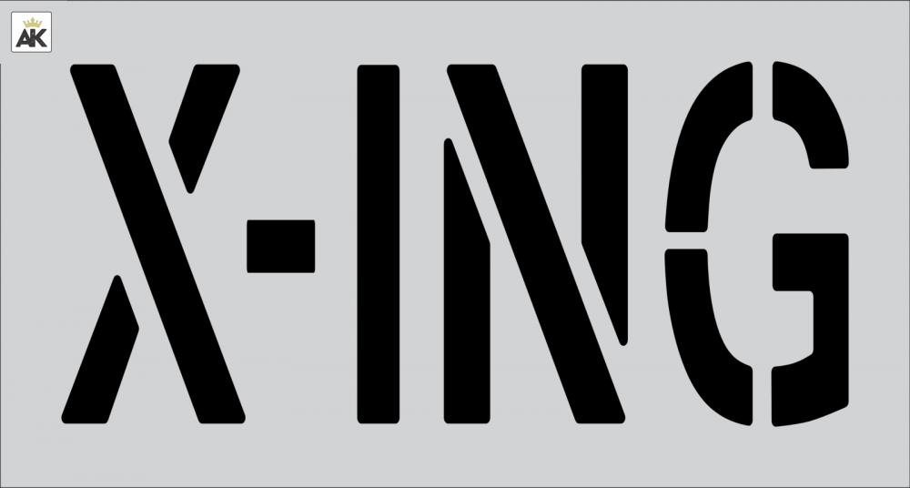 """18"""" X-ING Stencil"""