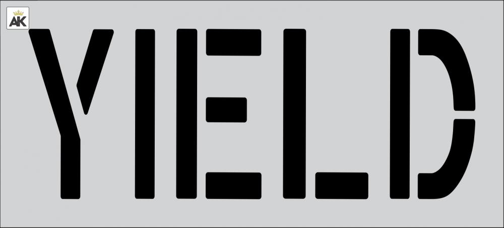 "18"" YIELD Stencil"