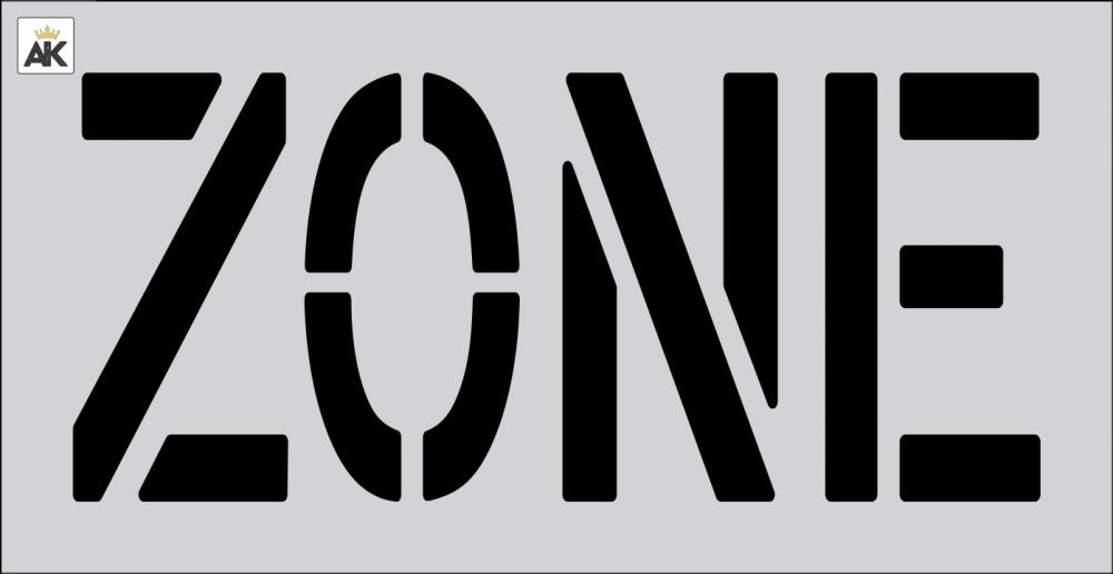 """18"""" ZONE Stencil"""