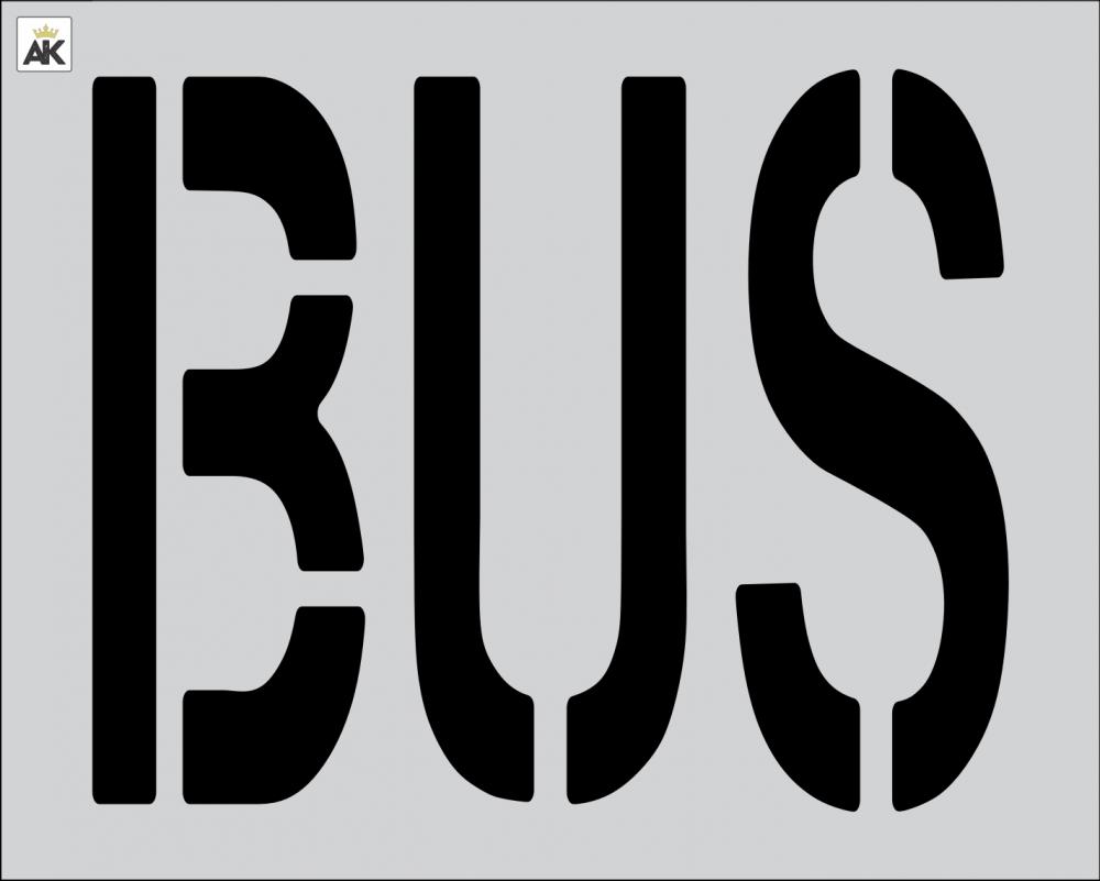"""24"""" BUS Stencil"""