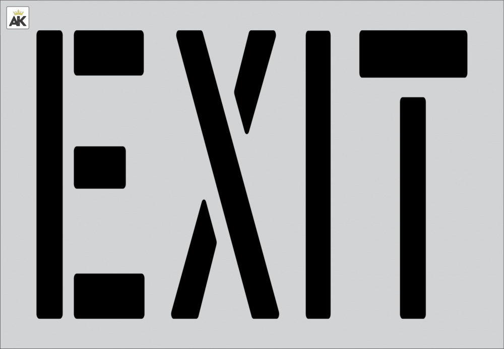 """24"""" EXIT Stencil for parking lots"""