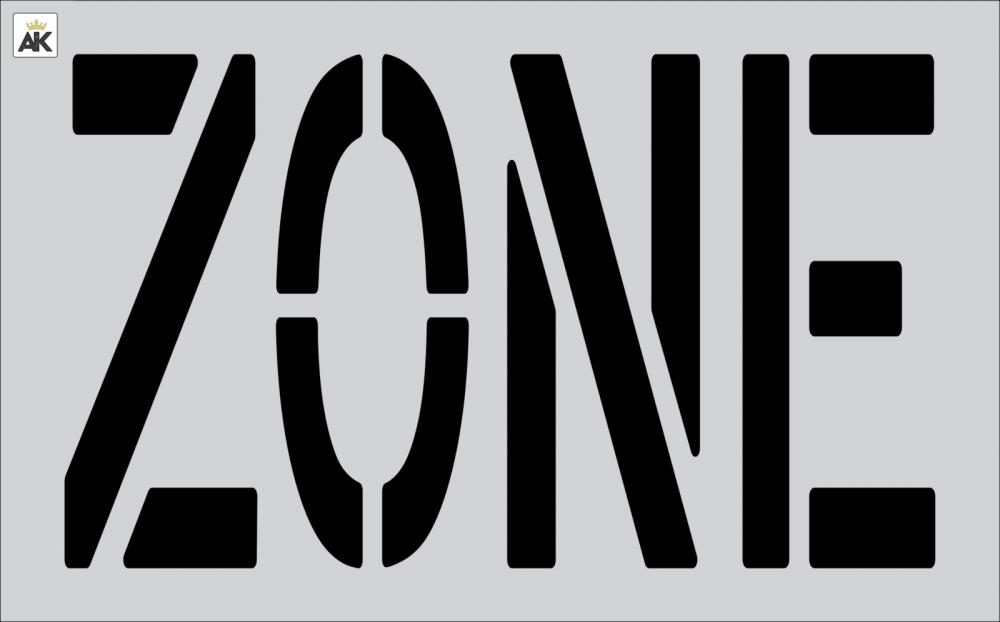 """24"""" ZONE stencil"""