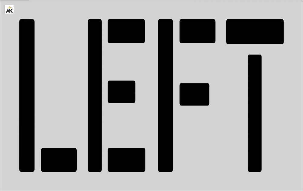 "24"" LEFT Stencil Parking Lot stencil"