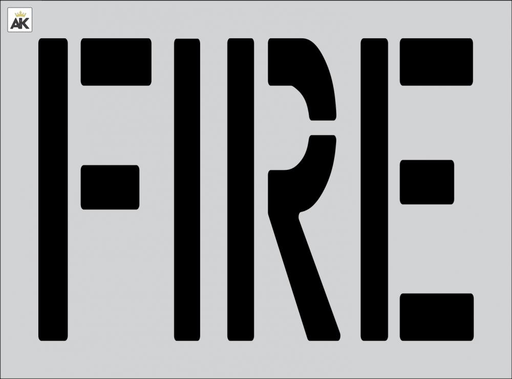 """24"""" FIRE Stencil"""