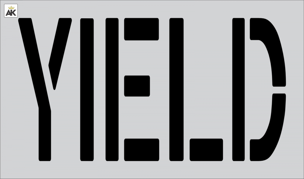 """24"""" YIELD Stencil for painting"""