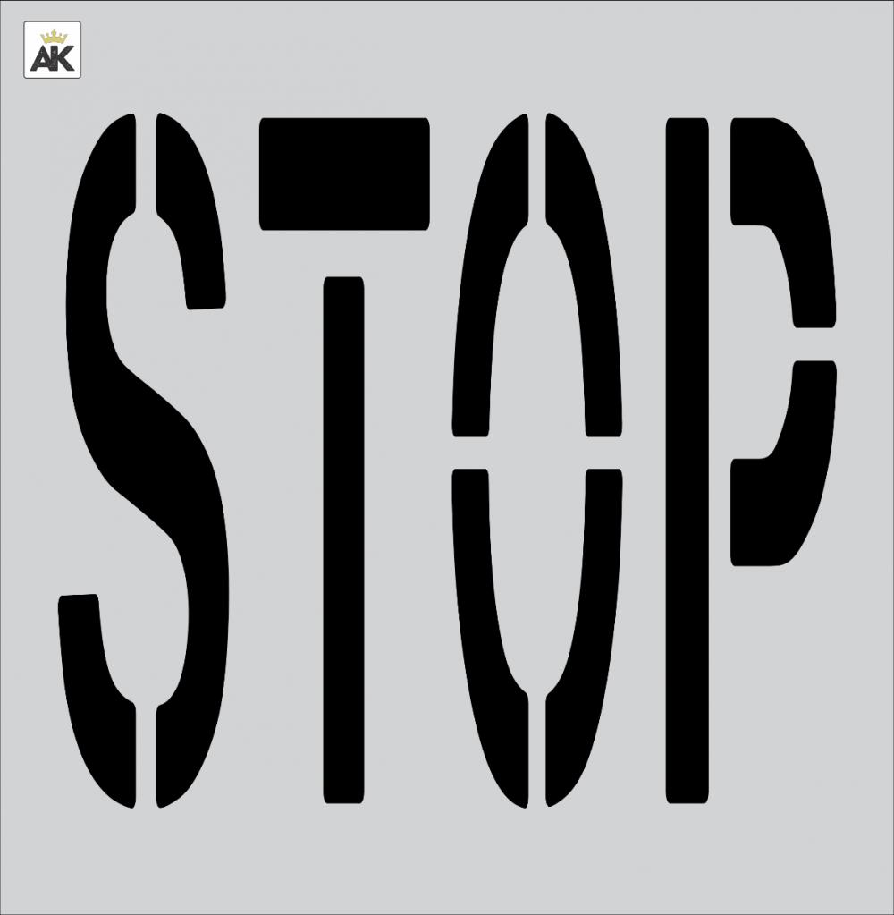 "36"" STOP Stencil"