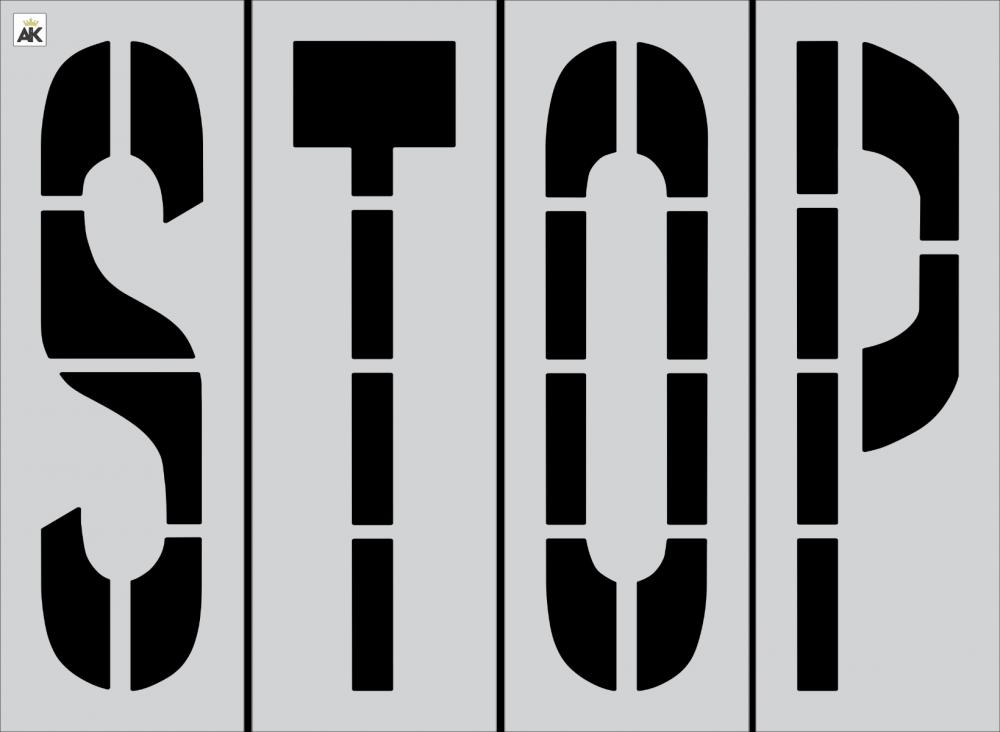 "48"" STOP Stencil"