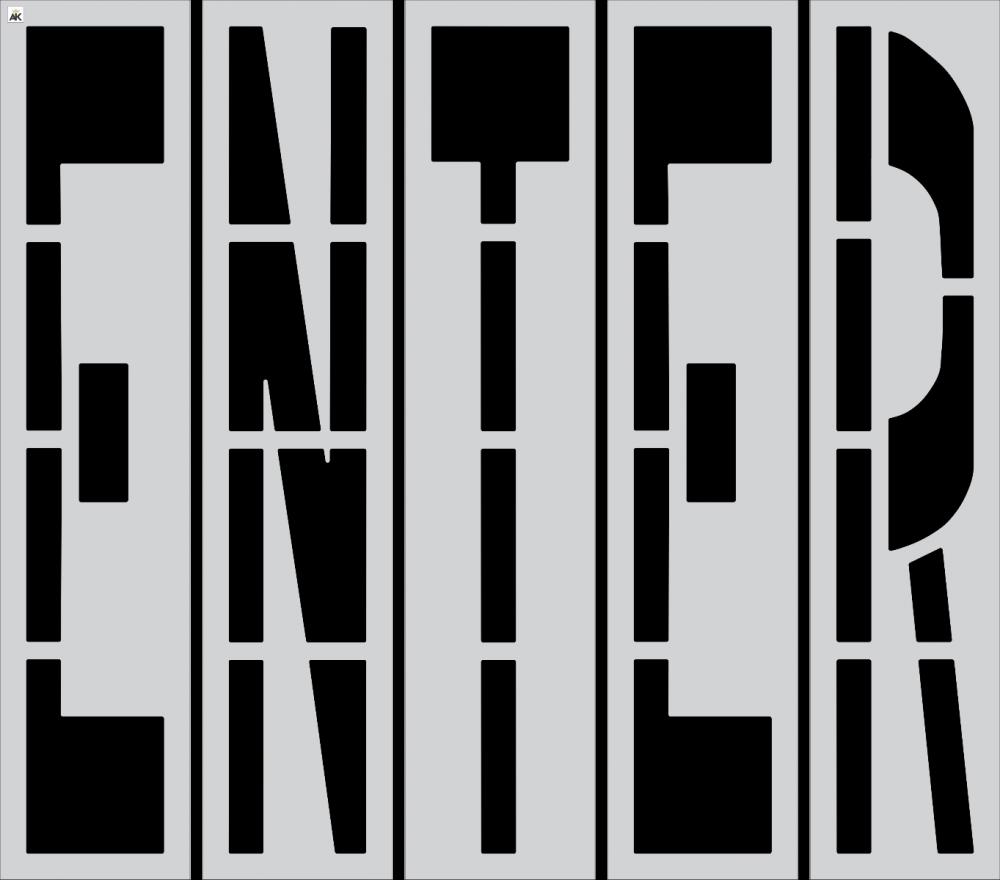 """96"""" ENTER Stencil"""
