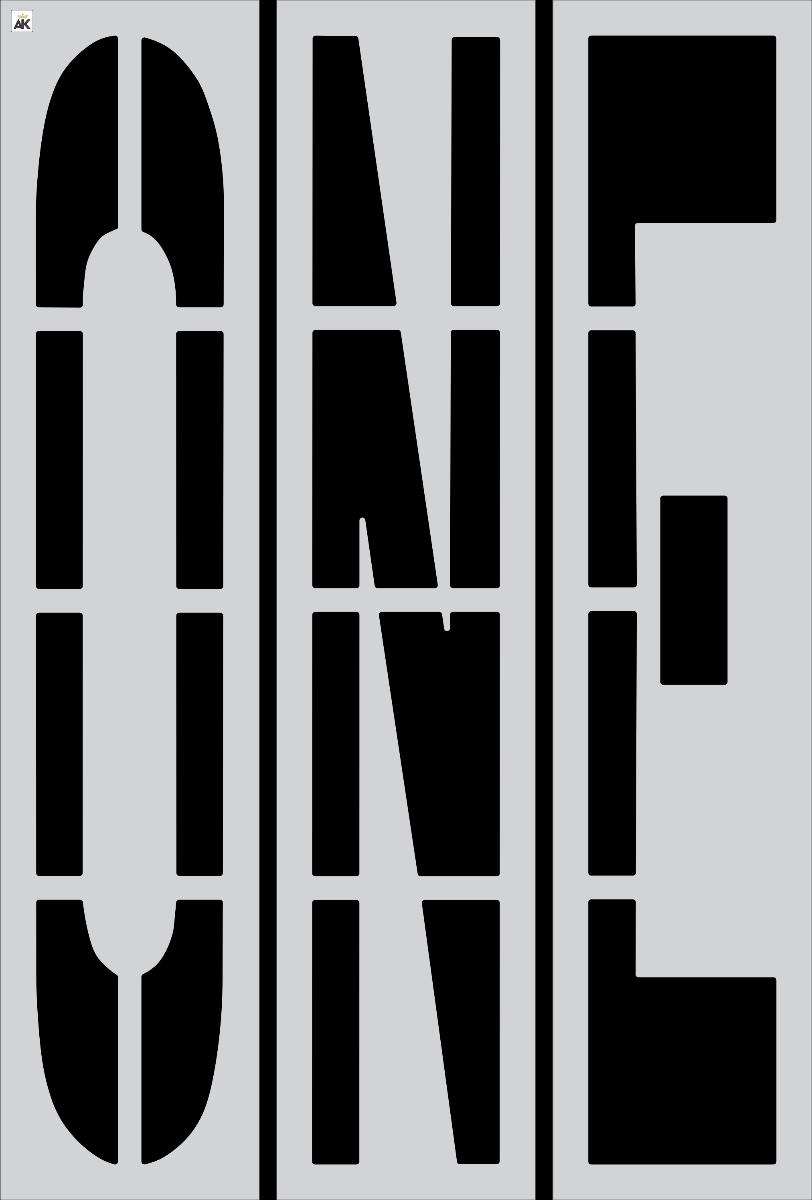 """96"""" ONE Stencil"""