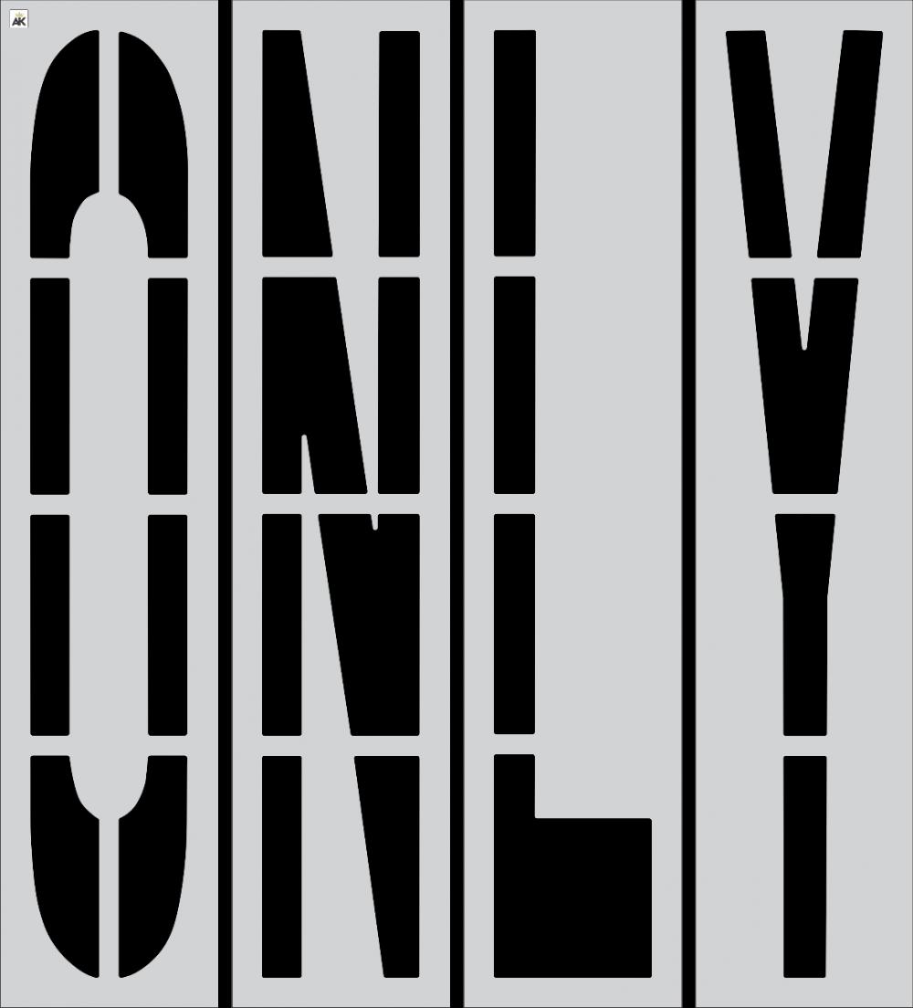 "96"" ONLY Stencil"