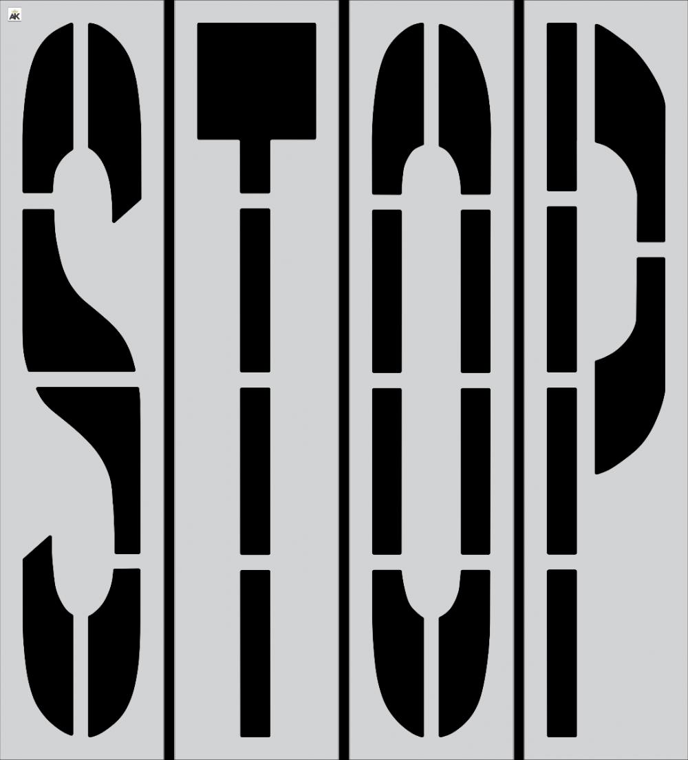 "96"" STOP Stencil"