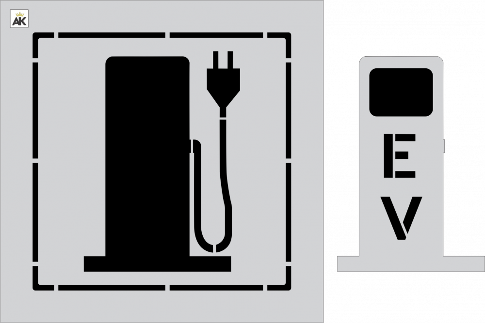 "42"" EV Electric Charging Station"