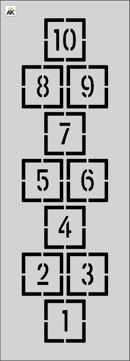 """90"""" x 24"""" Hopscotch Pattern Stencil"""