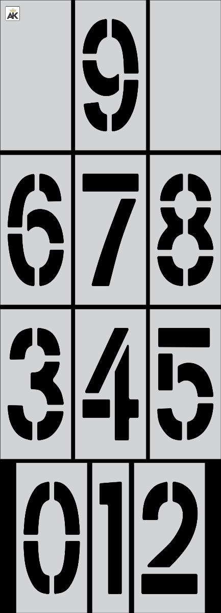 """36"""" x 12"""" Number Stencil Kits"""