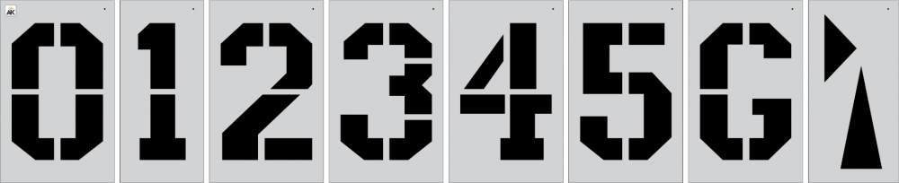 """36"""" ATHLETIC FONT Football Number Kit Stencil"""
