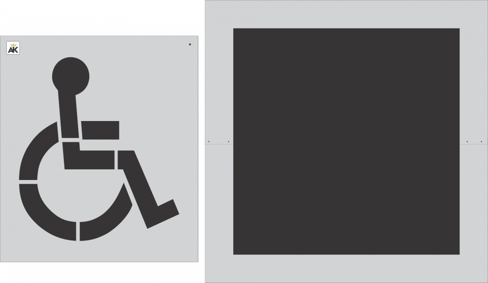 """39"""" Handicap Stencil With Background"""