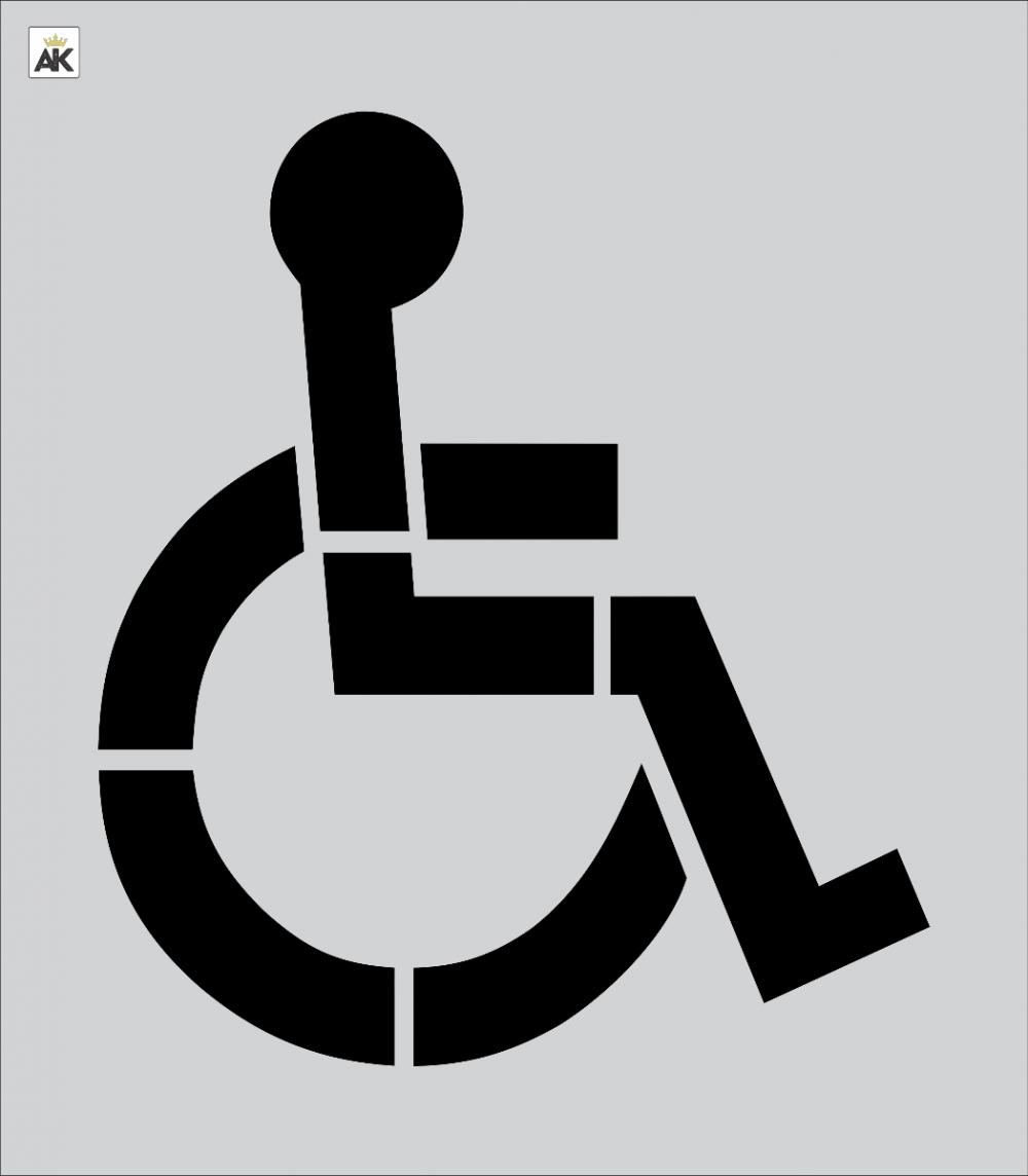 """39"""" Handicap Stencil for Pavement Marking"""