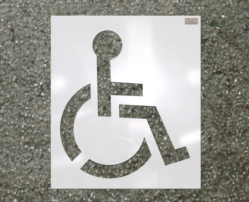 "39"" Handicapped Stencil"