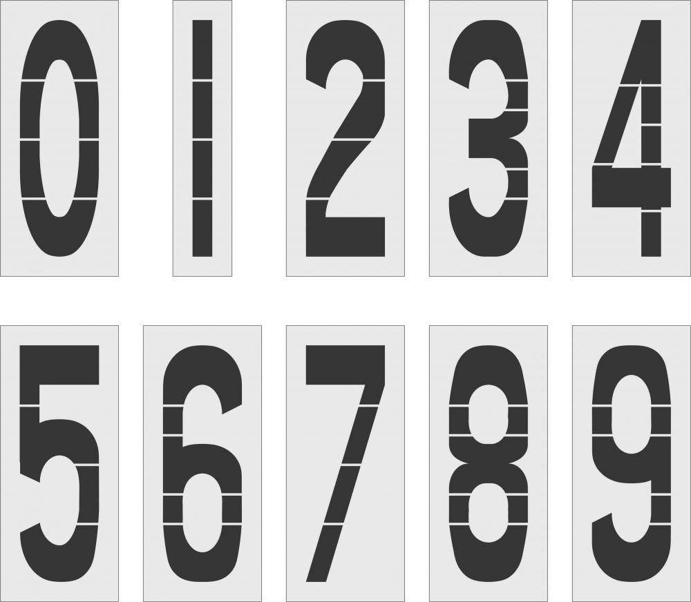 """48 """" Number Kit Stencil 0-9 12 pc (48"""" x 16"""")"""