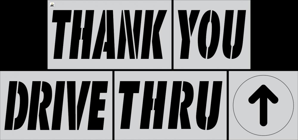 McDonald's 6 pc Stencil Kit (Thank You Drive-Thru and Arrow)