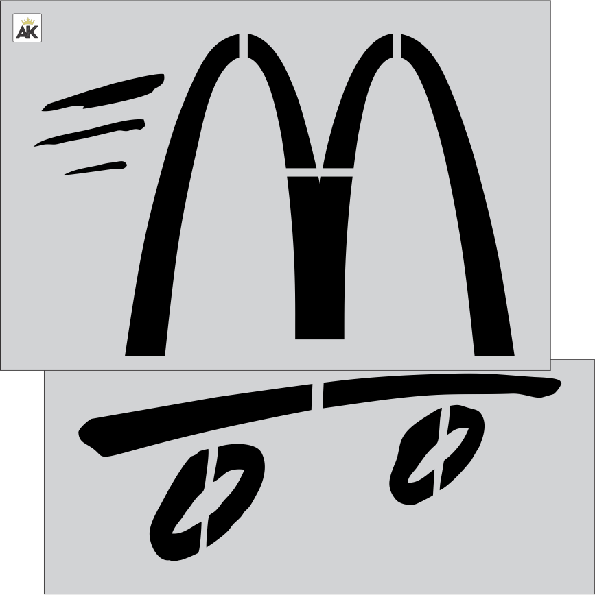 "McDonald's 48"" Speedy Logo OAS 54X54"