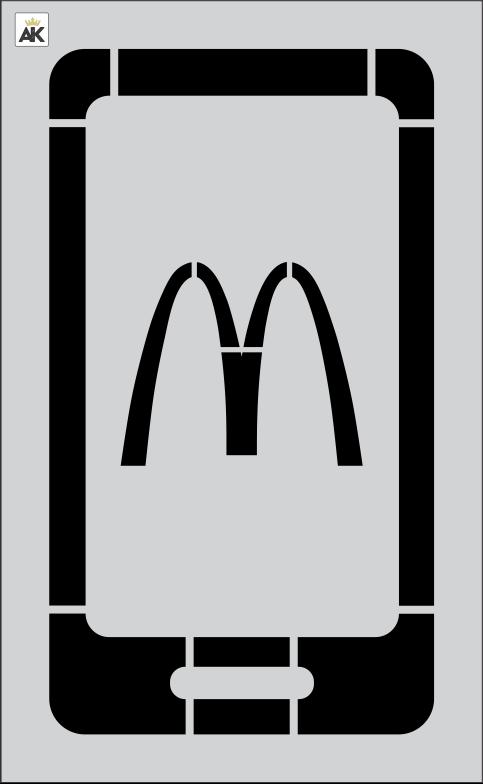 "McDonald's 1 pc 42.75"" Curbside Remote App Logo"