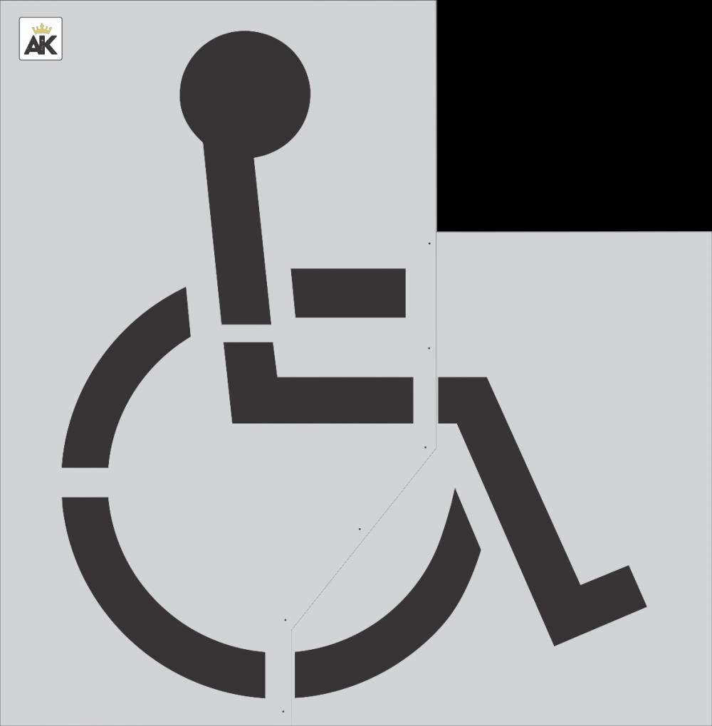 """72"""" Handicap Stencil"""