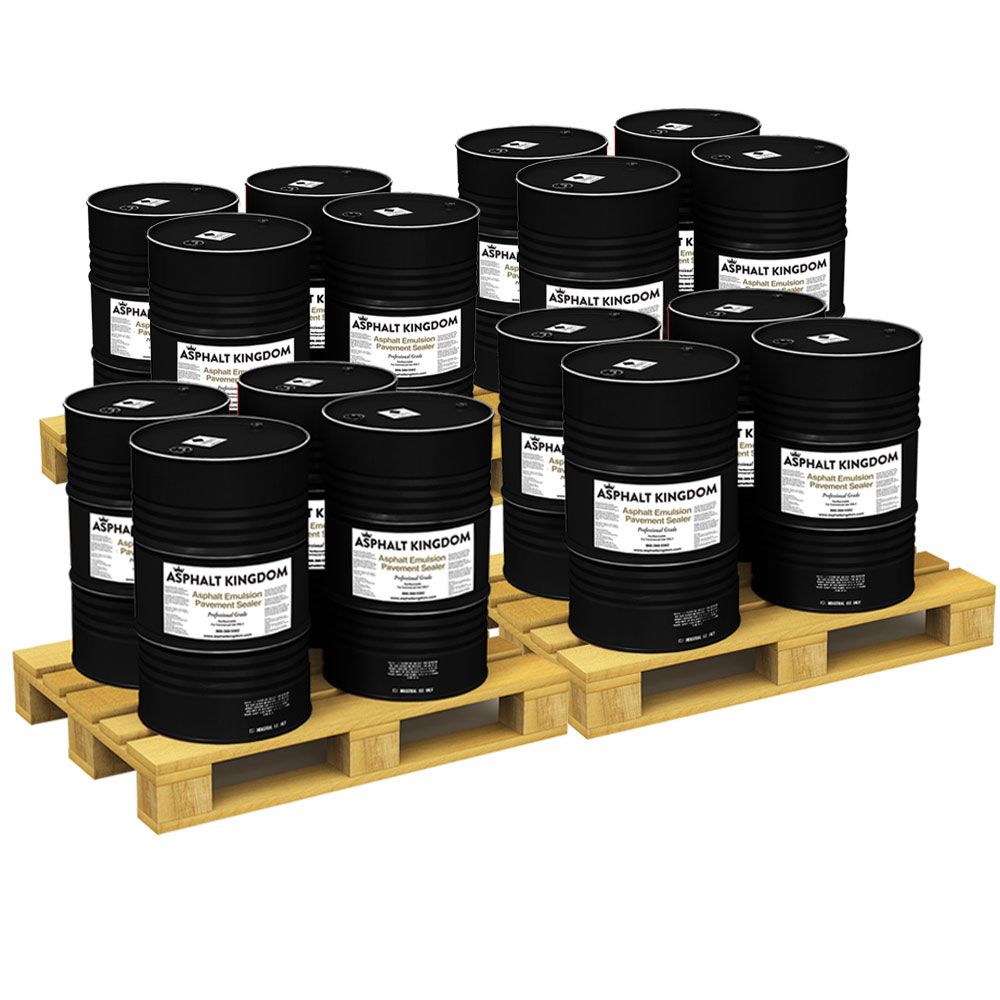 4 Asphalt Emulsion Sealer Skids (16 x 55-Gallon Drums)
