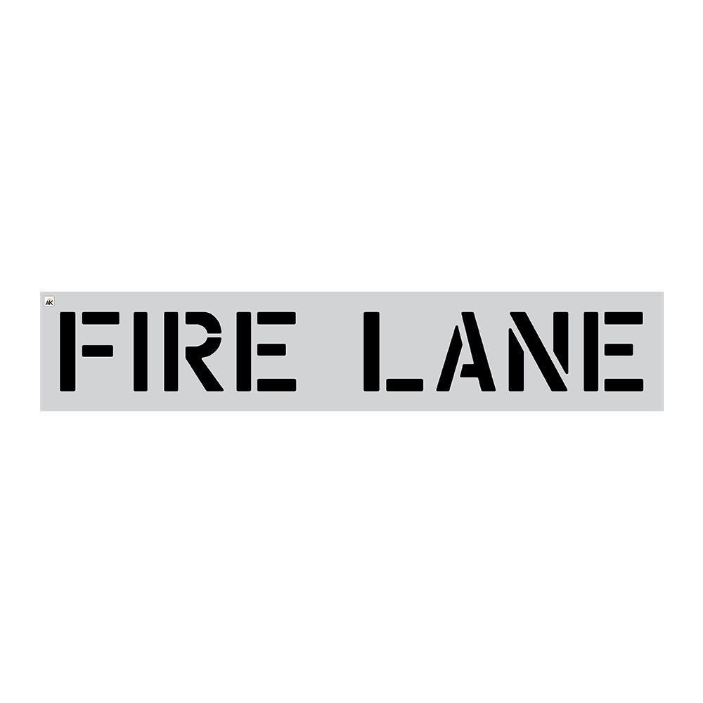 "12"" Fire Lane Stencil"