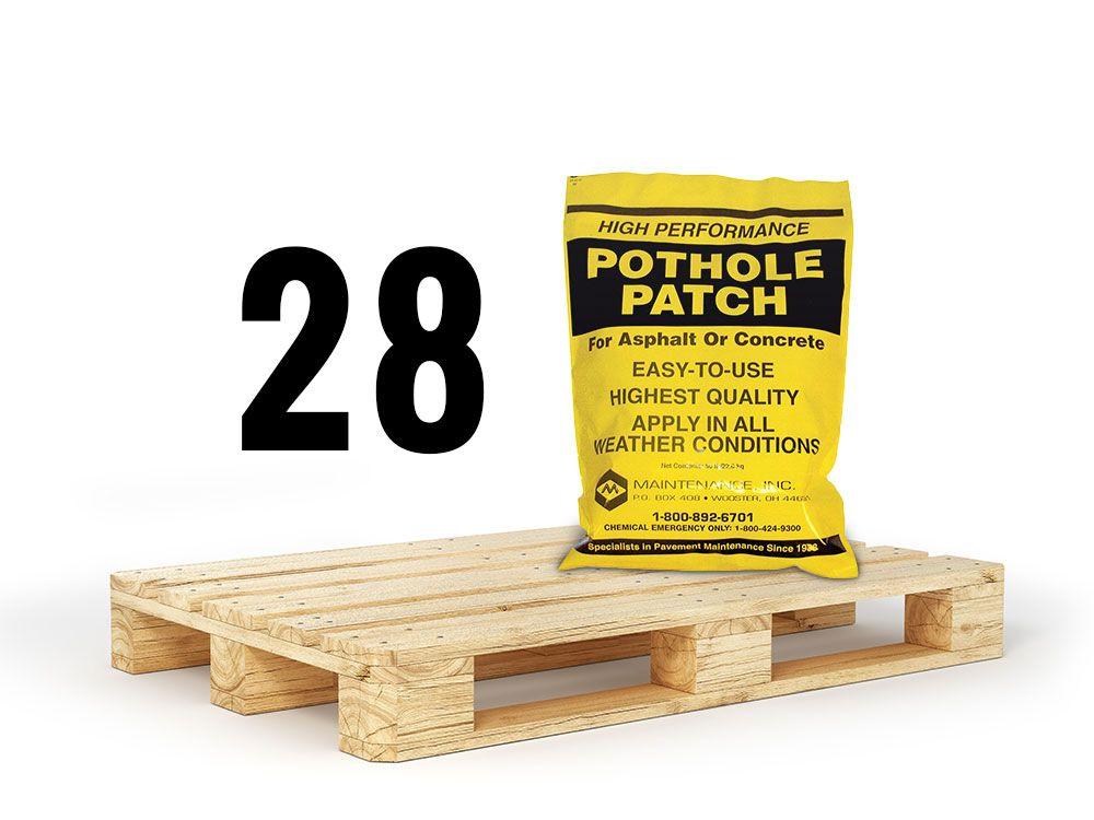 Pothole Patch Asphalt - Half Pallet / 28 Bags